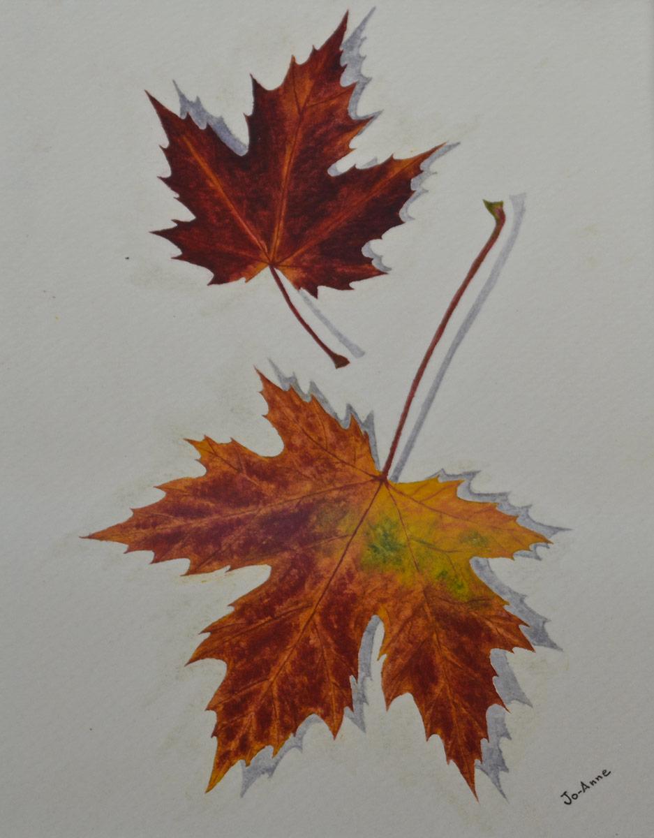 Feuilles d'automneAquarelle VENDU