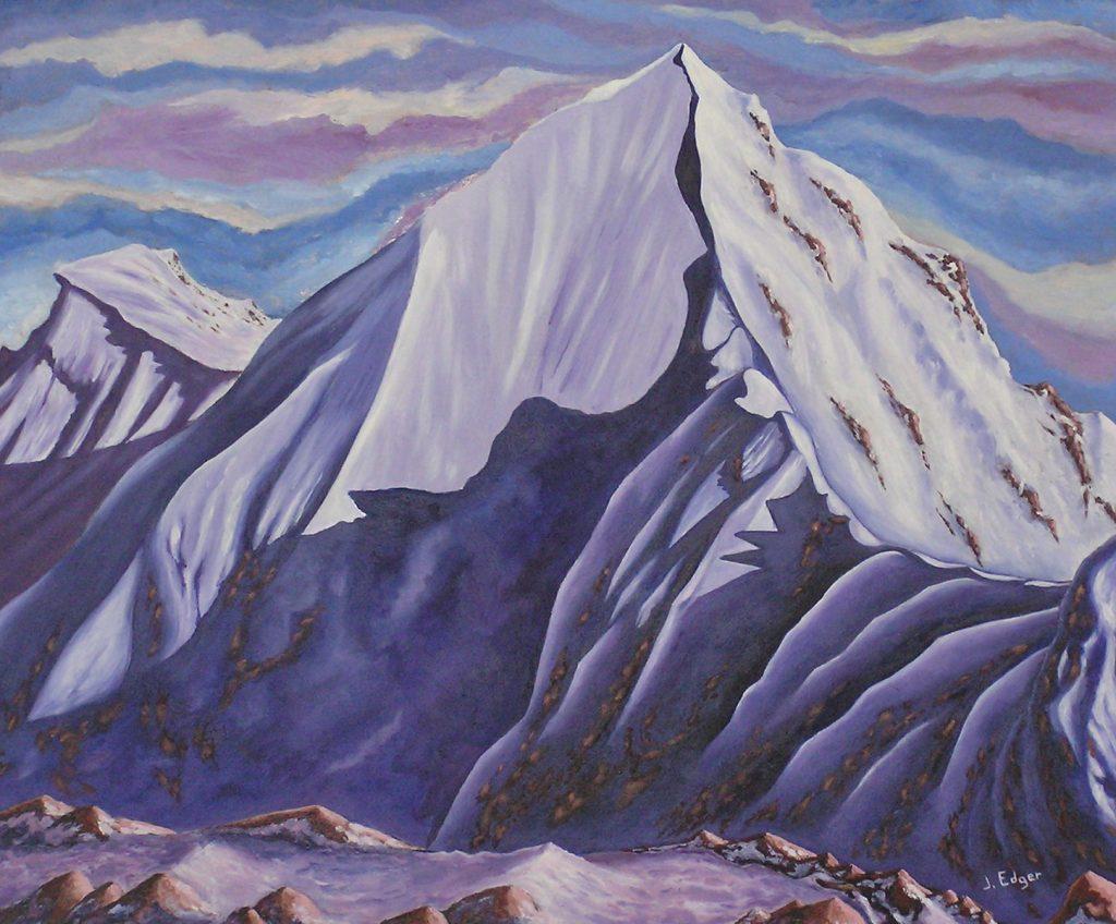 Huile sur toile - Paysage - montagne