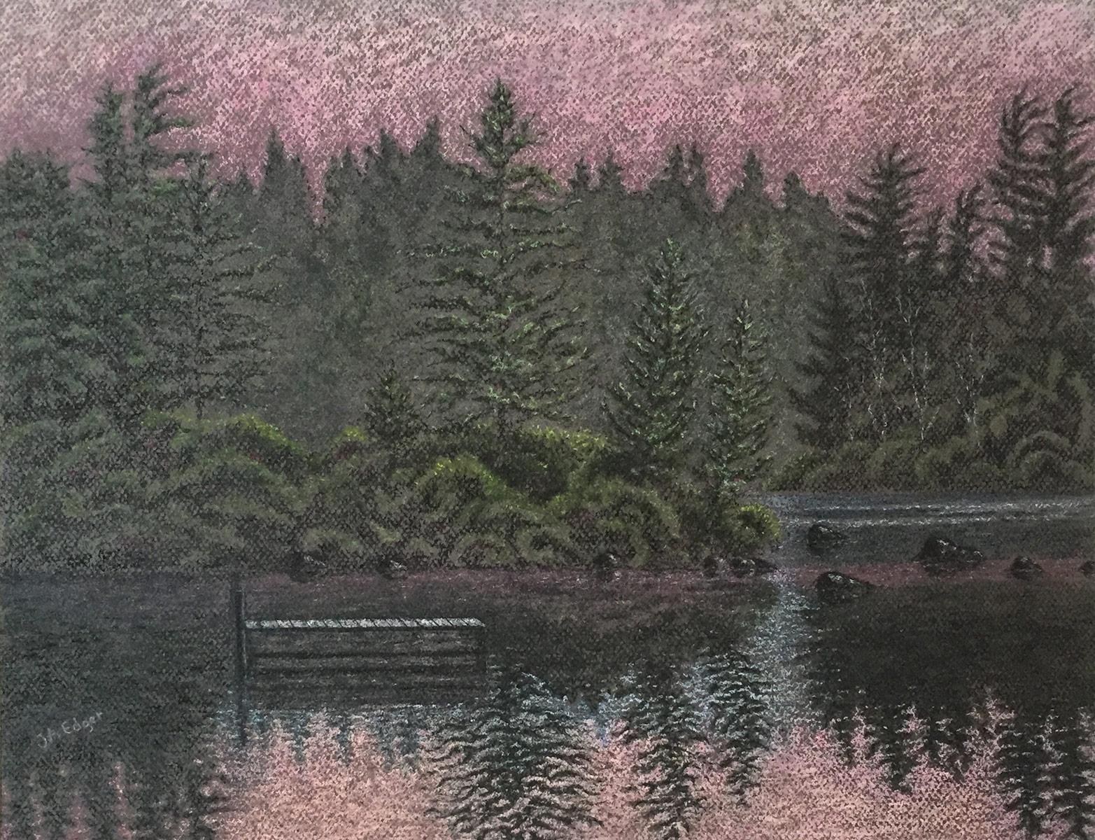 Aurore au lac du Cœur