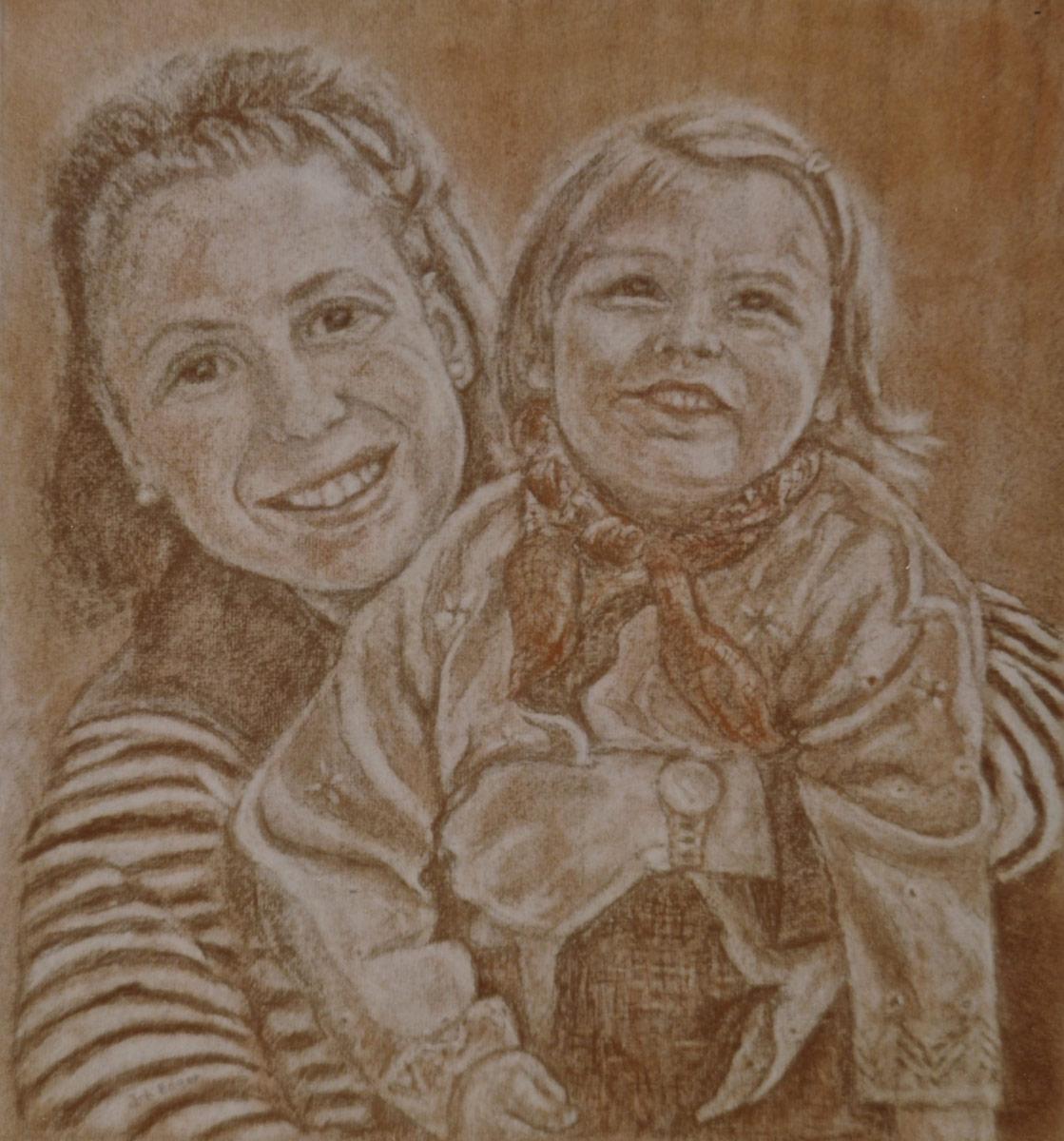 Zoé et maman