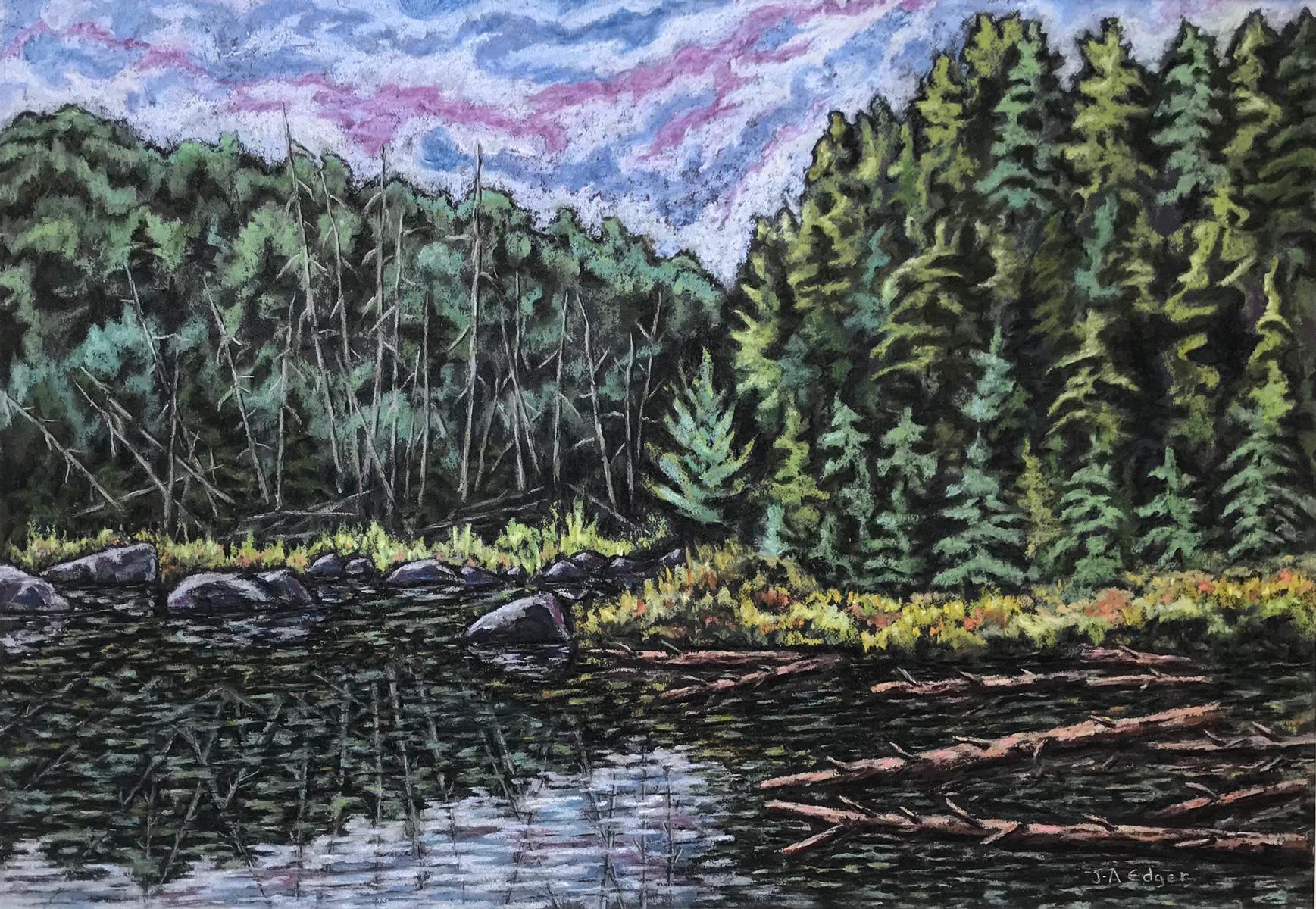 Décharge du lac Caisse