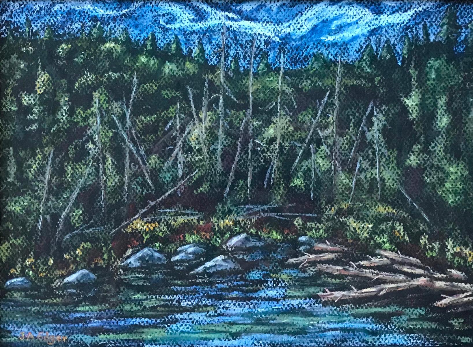 La décharge du lac